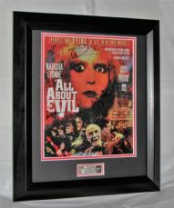 "Reduced by £10 A311AAECS Kat Turner, Thomas Dekker, Noah Segan, Ashley Fink and Anthony Fitzgerald - ""ALL ABOUT EVIL"" CAST SIGNED"